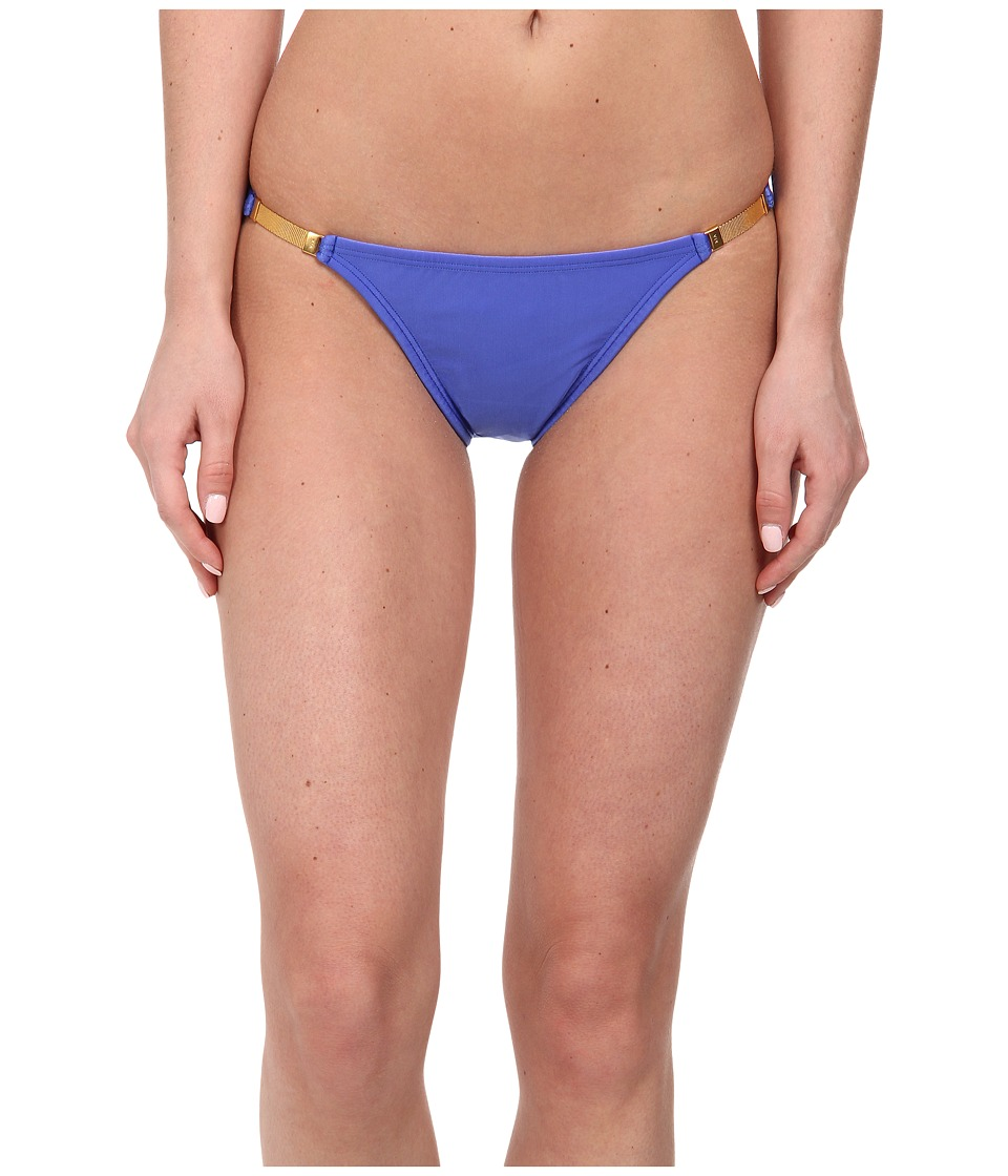 Vix - Solid Blue Undersea Detail Full Bottoms (Blue Undersea) Women's Swimwear