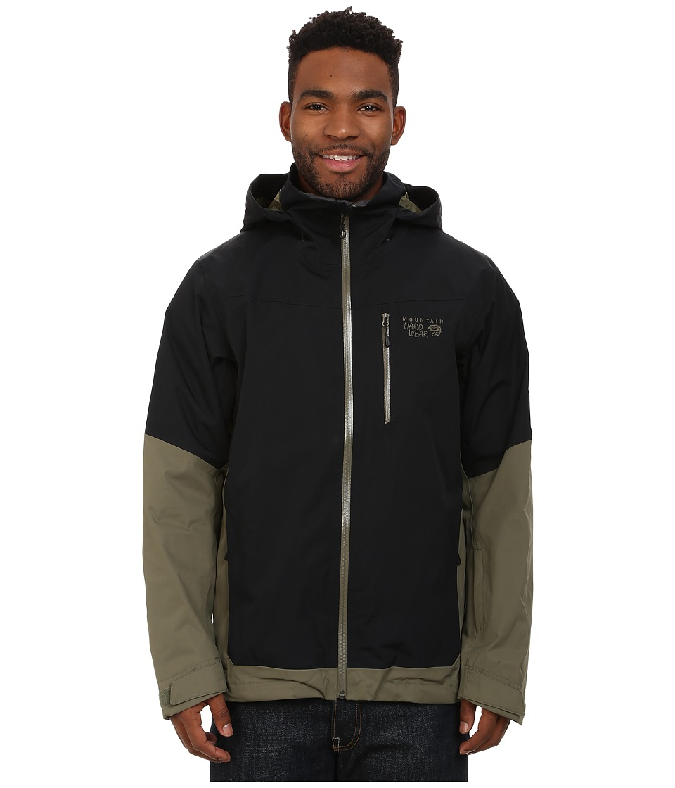Mountain Hardwear - Dragon's Back Jacket (Black/Stone Green) Men's Coat