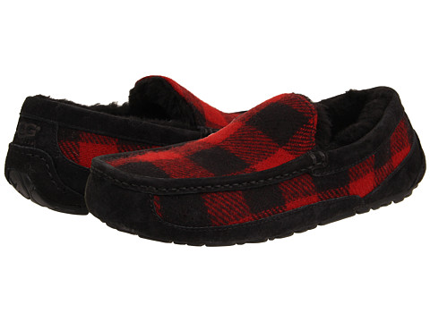 UGG - Ascot Plaid (Redwood Wool) Men