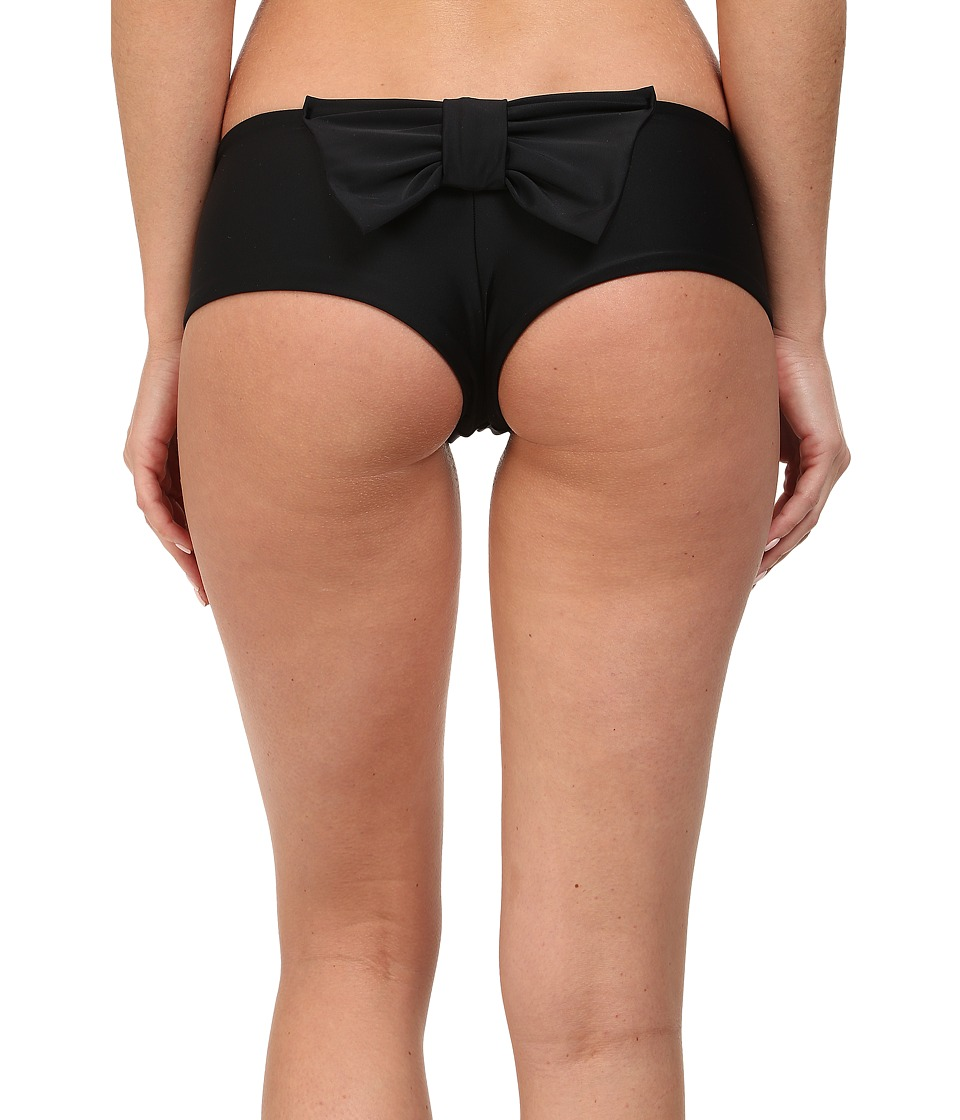 Lolli - Cannon Ball Bow Bottoms (Black) Women's Swimwear