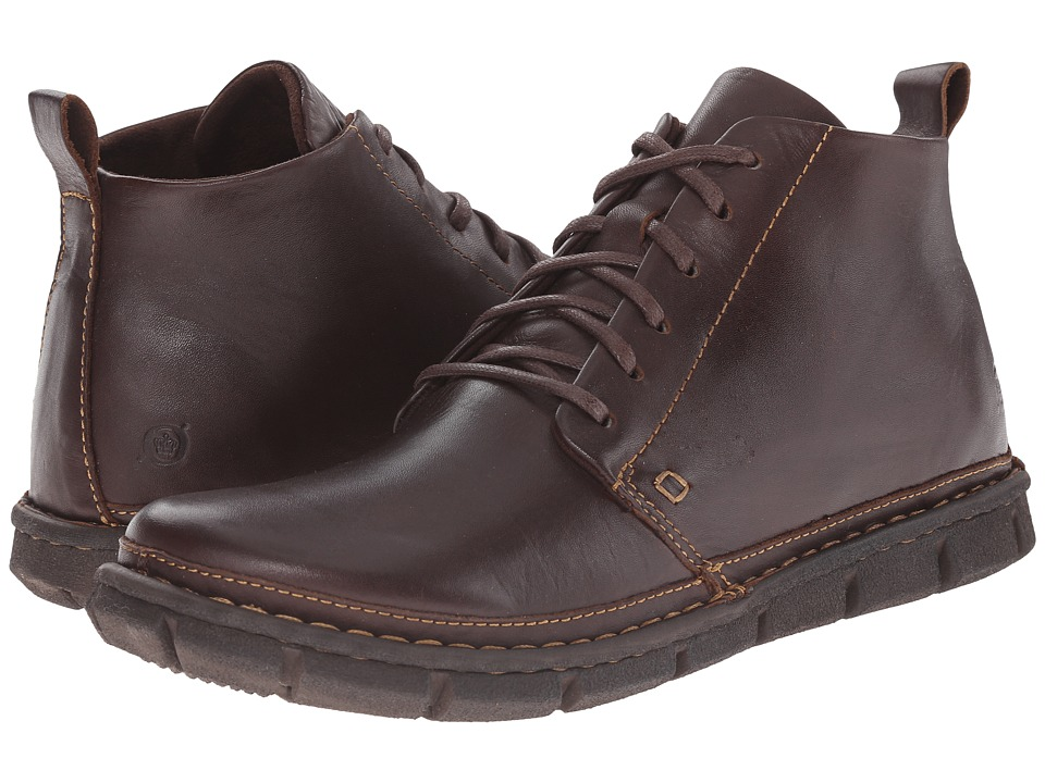 Born - Jax (Brown Full Grain Leather) Men's Lace-up Boots