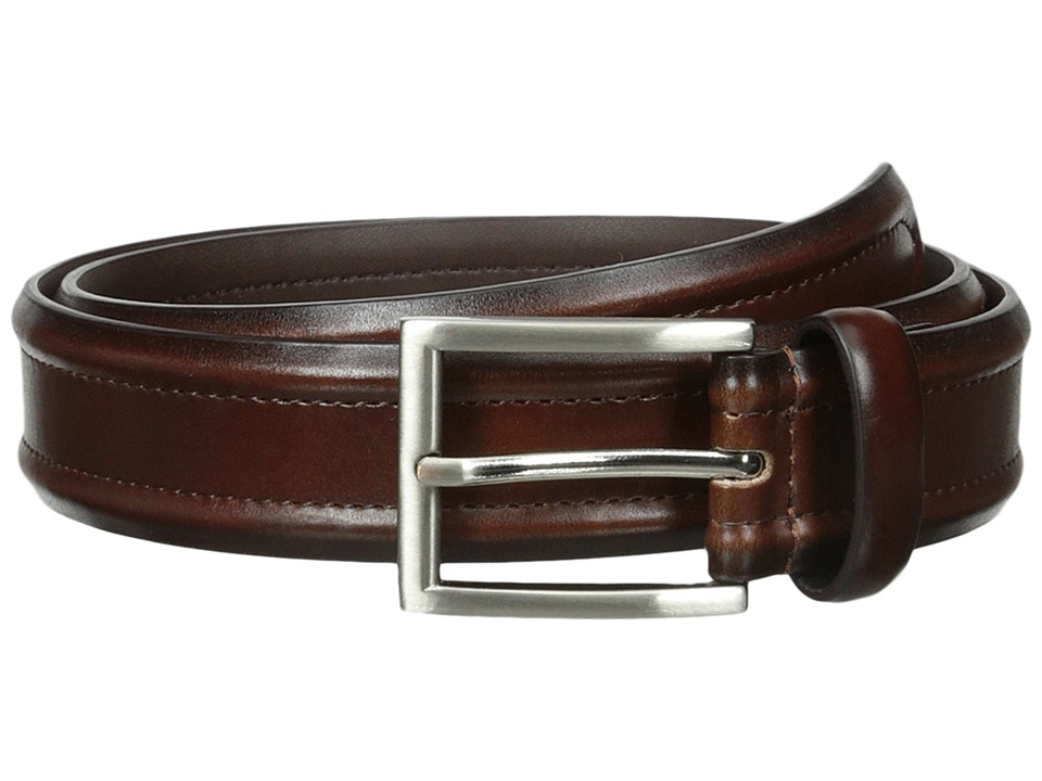 Florsheim Dress Casual Burnished Leather Belt 32mm (Brown) Men