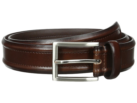 Florsheim - Dress Casual Burnished Leather Belt 32mm (Brown) Men's Belts