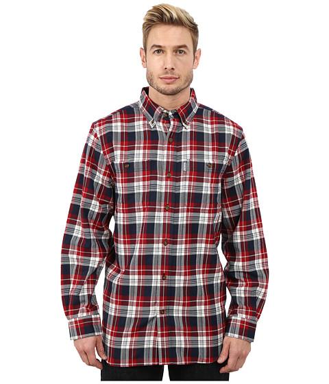 Carhartt - Trumbull Plaid Long Sleeve Shirt (Dark Crimson) Men
