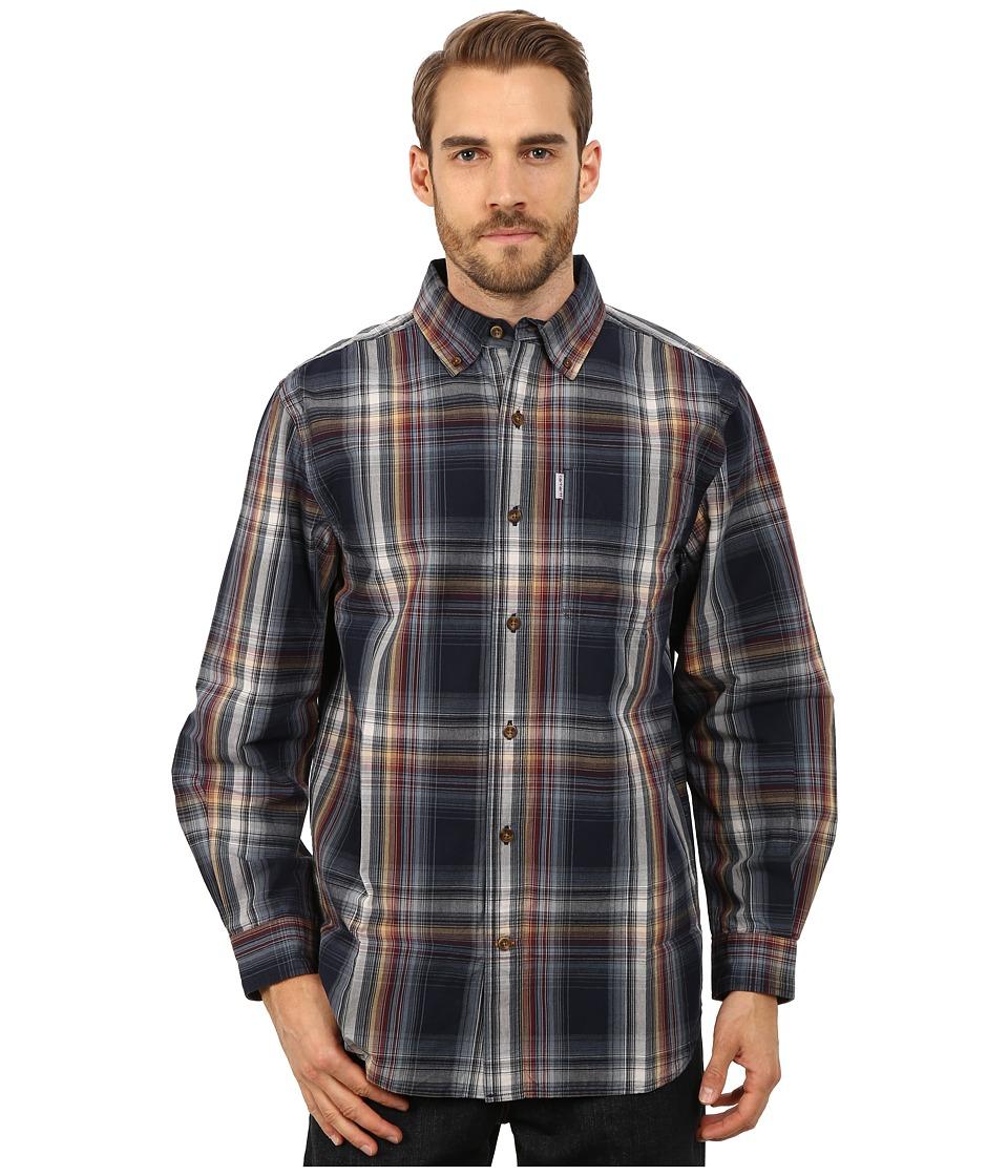 Carhartt - Bellevue Long Sleeve Shirt (Navy) Men's Long Sleeve Button Up
