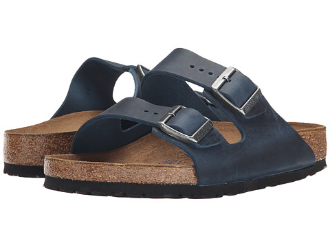 Birkenstock - Arizona Soft Footbed (Insignia Blue Oiled Leather) Women's Shoes