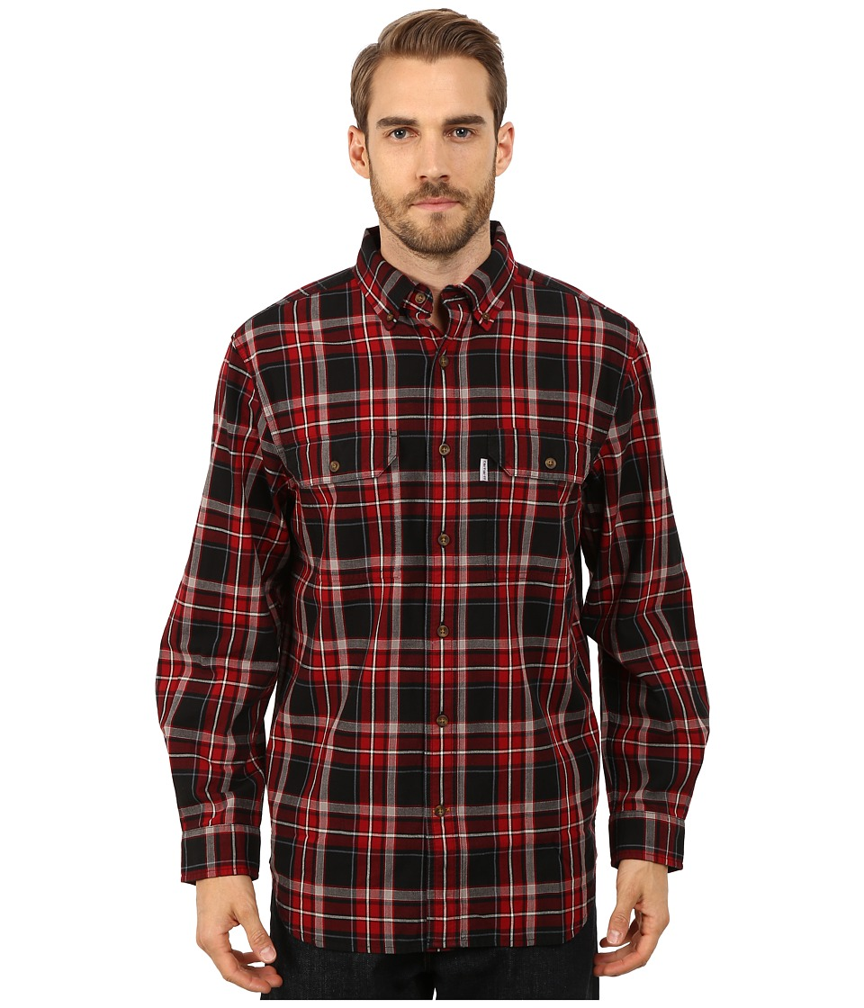 Carhartt - Fort Plaid Long Sleeve Shirt (Black) Men's Long Sleeve Button Up