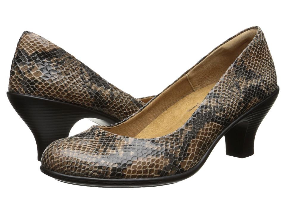 Comfortiva - Salude (Sand Snake Print) High Heels