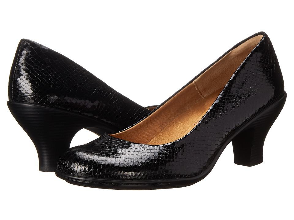 Comfortiva - Salude (Black Snake Print) High Heels