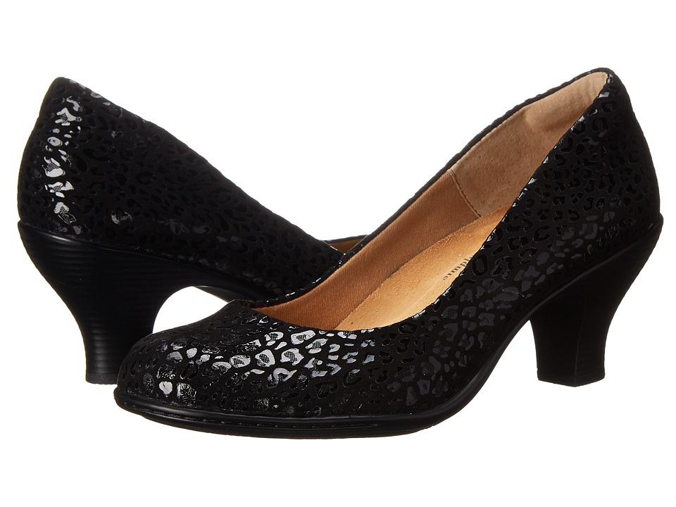 Comfortiva - Salude (Black Suede) High Heels