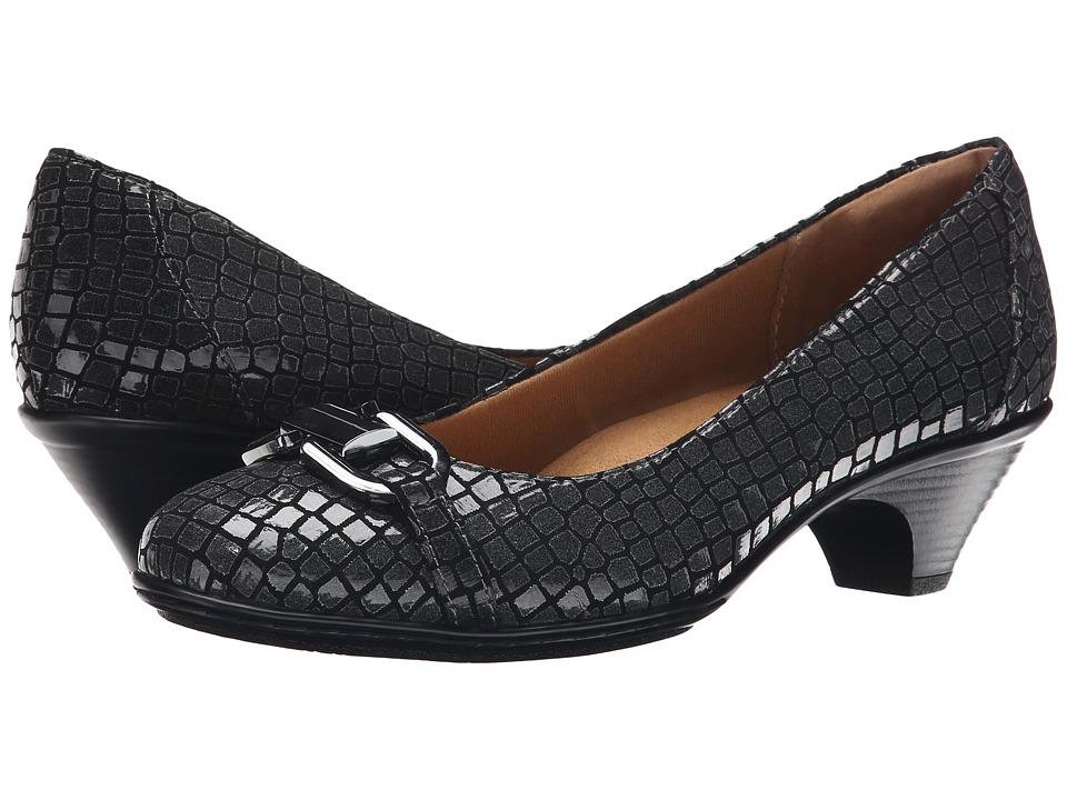 Comfortiva Sahara (Pewter Patent Croco) High Heels