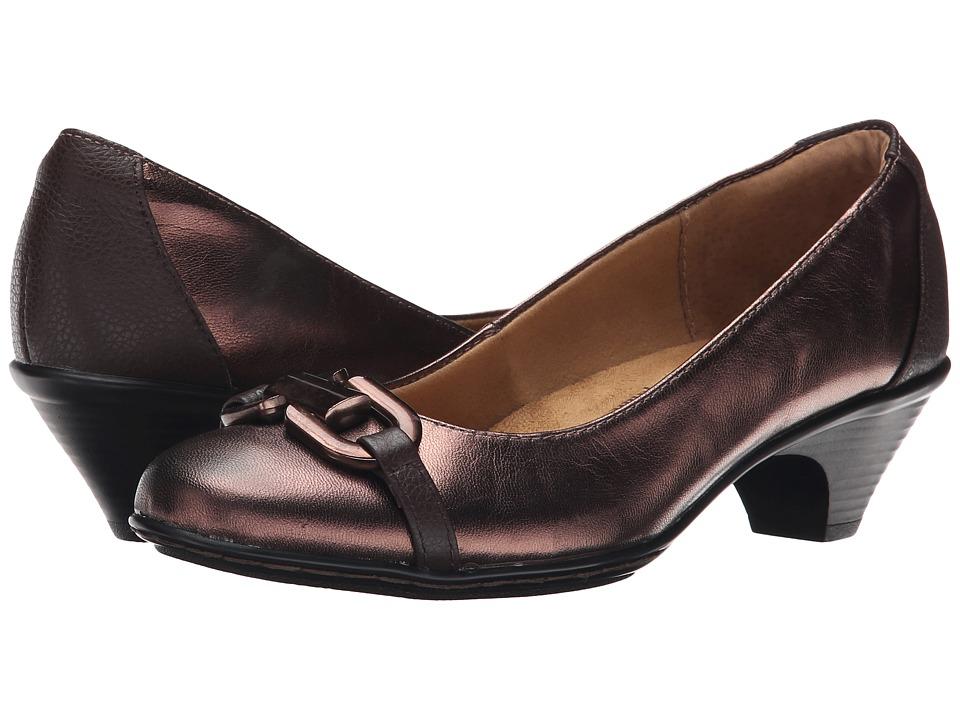 Comfortiva - Sahara (Copper/Brownwood Foil Goat/Calf Ionic) High Heels