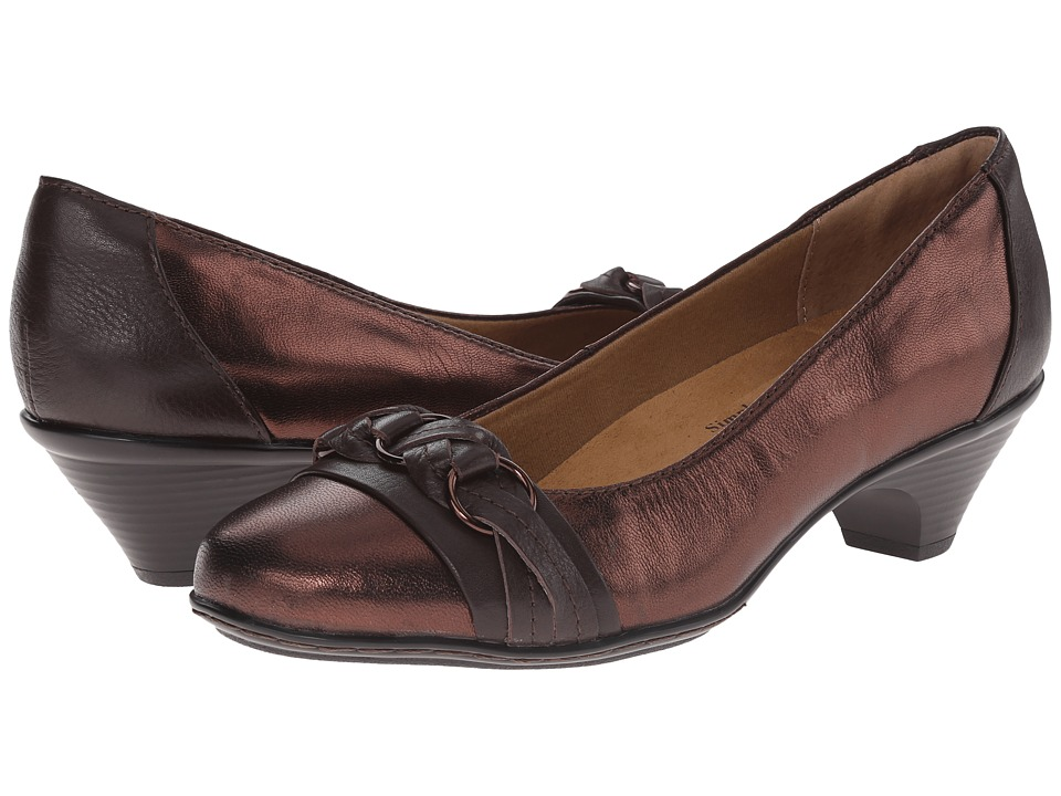 Softspots - Samira (Copper/Brownwood/Foil Goat/Calf Ionic) High Heels