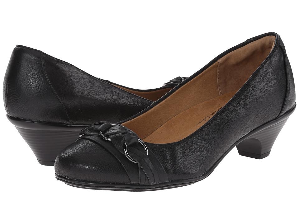 Comfortiva - Samira (Black/Black Goat Mustang/Calf Ionic) High Heels