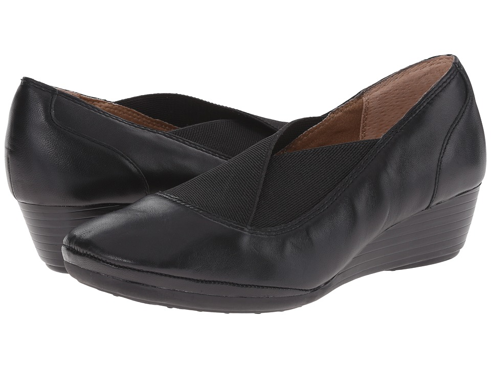 Comfortiva - Caren (Black Velvet Sheep Nappa) Women's Wedge Shoes