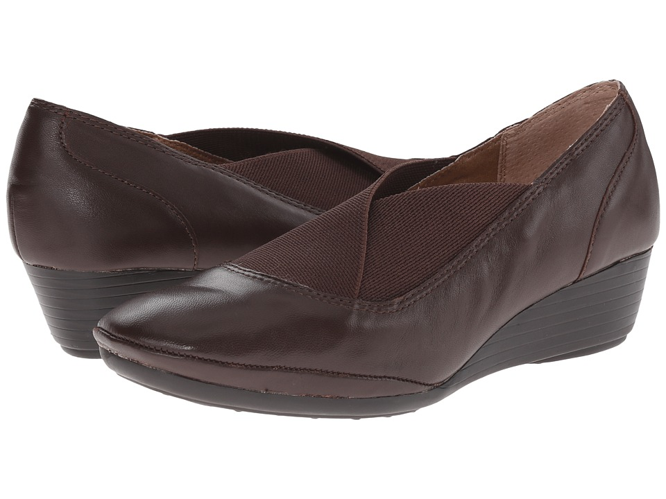 Comfortiva - Caren (Mahogany Velvet Sheep Nappa) Women's Wedge Shoes