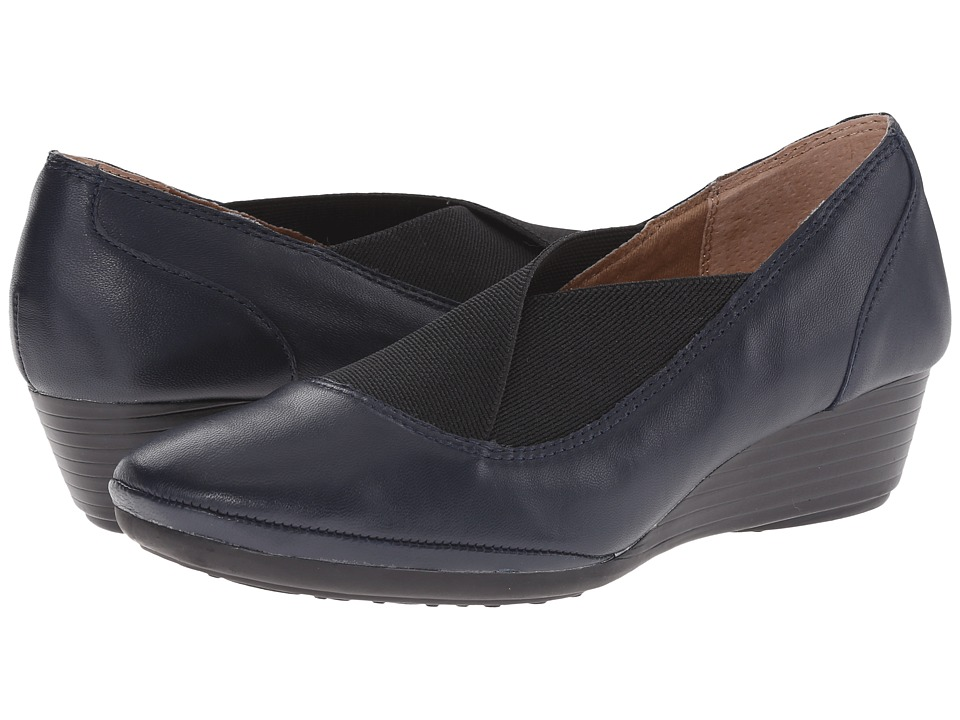 Comfortiva - Caren (Arcadia Navy Velvet Sheep Nappa) Women's Wedge Shoes