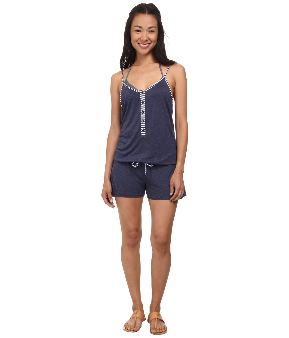 Splendid - Sporty Blues Romper Cover-Up (Navy) Women's Jumpsuit & Rompers One Piece