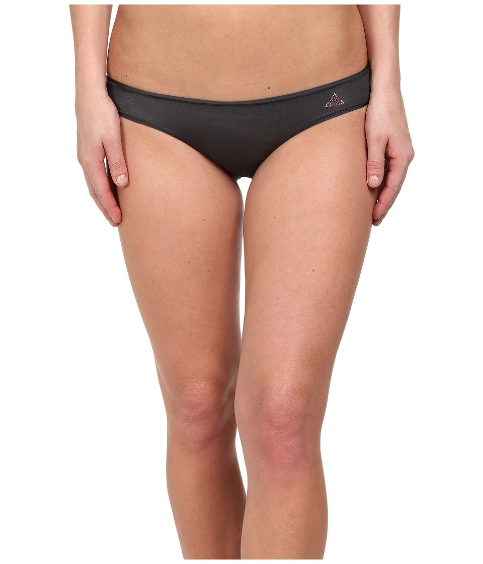 Betsey Johnson - Slinky Knit Ruched Back Bikini 721802 (Dark Shadow) Women
