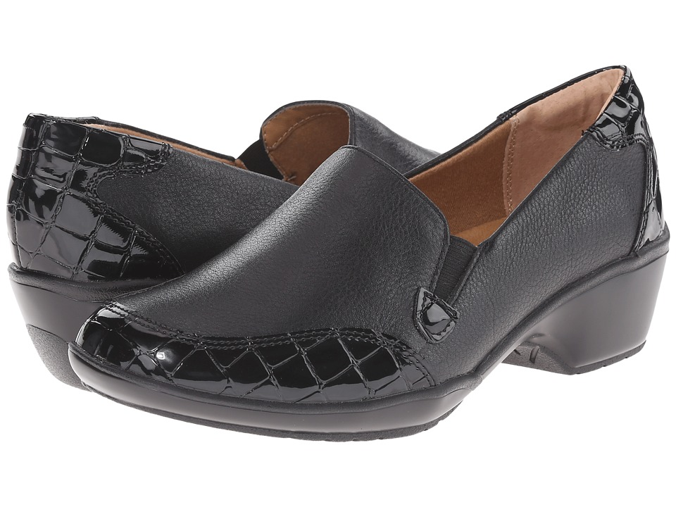 Comfortiva - Mandolin (Black/Black Calf Ionic/Croco Patent) Women's Shoes