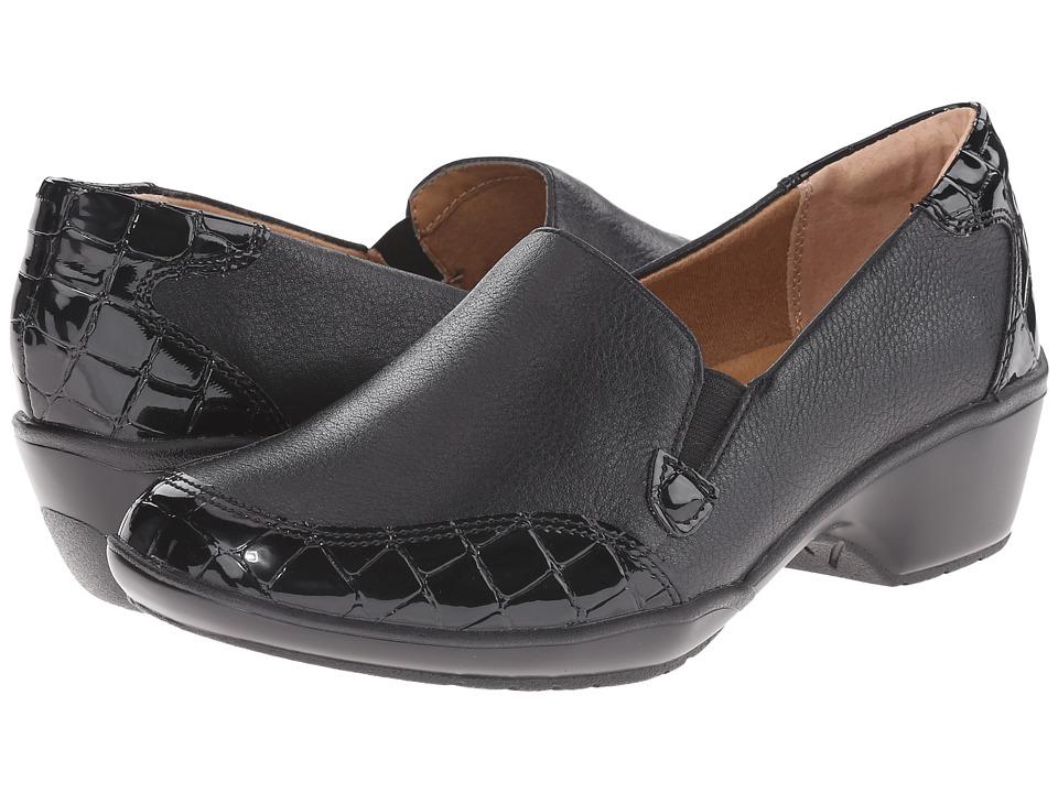 Comfortiva Mandolin (Black/Black Calf Ionic/Croco Patent) Women