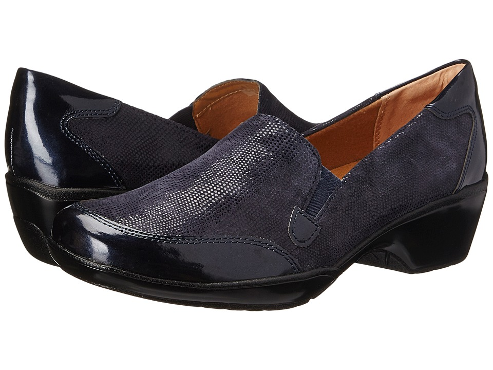 Comfortiva - Mandolin (Navy/Metallic Navy Santos Suede/Patent) Women's Shoes