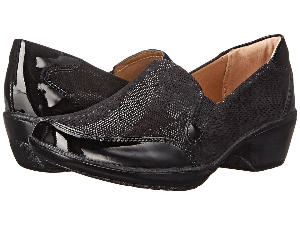 Comfortiva - Mandolin (Black Suede/Black Santos Suede/Patent) Women's Shoes