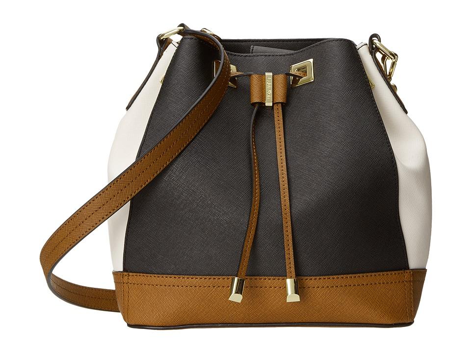 Calvin Klein - Saffiano Drawstring (Black Combo) Drawstring Handbags