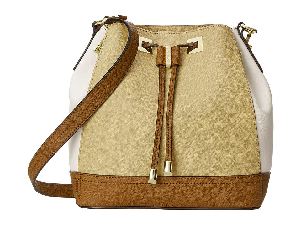 Calvin Klein - Saffiano Drawstring (Nude Combo) Drawstring Handbags