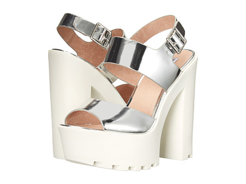 Steve Madden - Iggy Azalea - Get-It (Silver Leather) High Heels