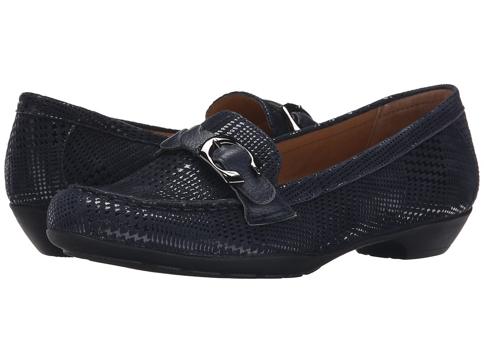 Comfortiva - Peron (Navy Houndstooth Suede/Calf Ionic) Women's Shoes