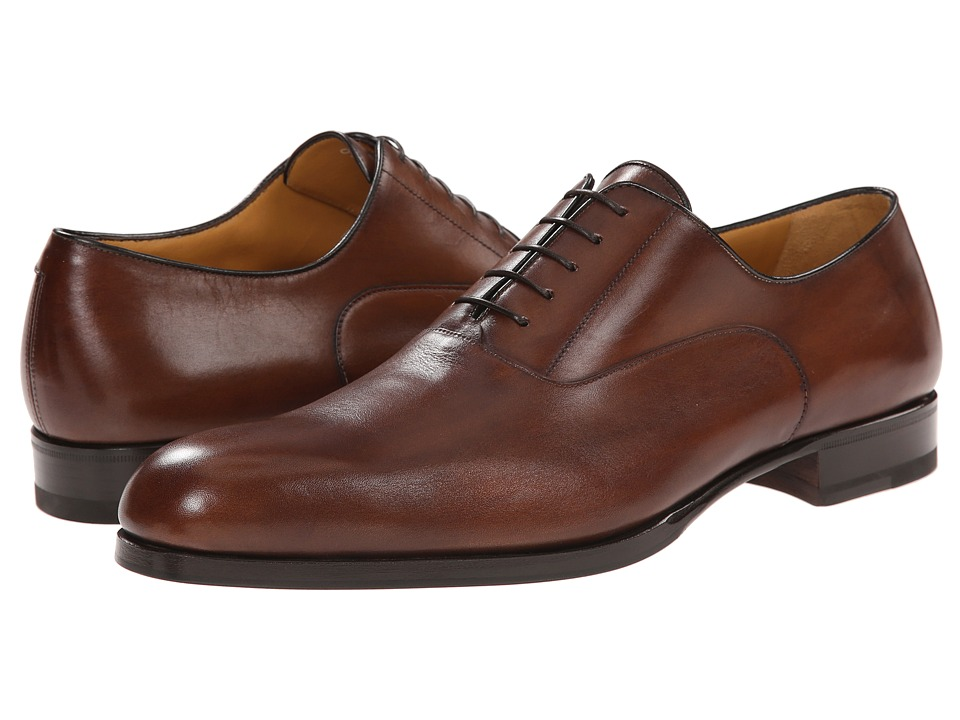 a. testoni - Liscia/Delave Oxford with Half Rubber Sole (Caramel) Men