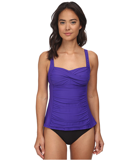 Athena - Finesse Solids Tankini (Grape) Women's Swimwear