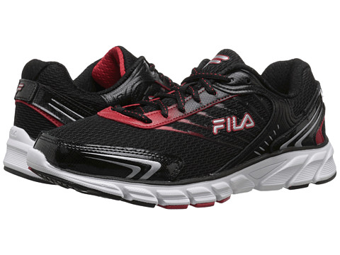 Fila - Maranello (Black/Fila Red/Metallic Silver) Men's Shoes