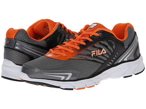 Fila - Maranello (Dark Silver/Black/Vibrant Orange) Men's Shoes