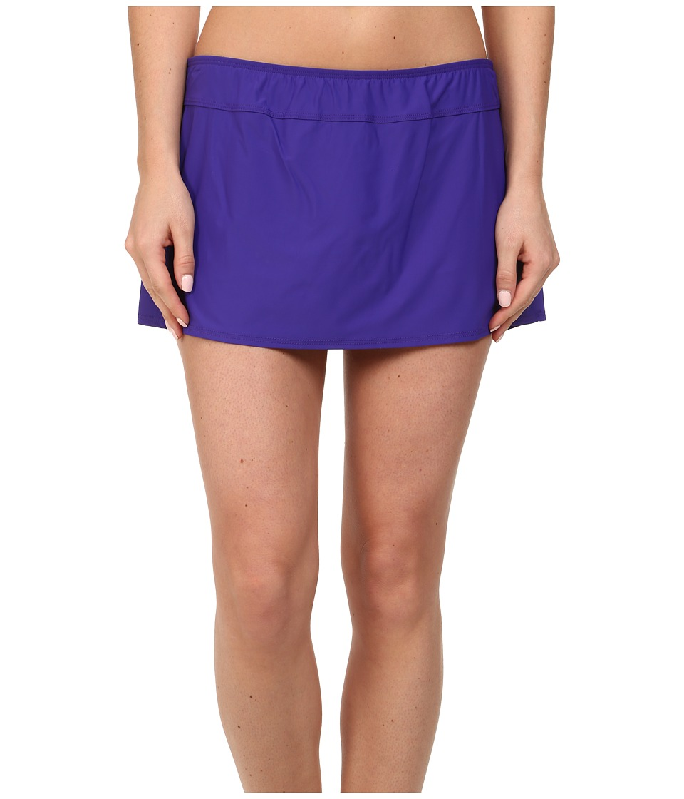 Athena Finesse Solid A Line Skirt (Grape) Women