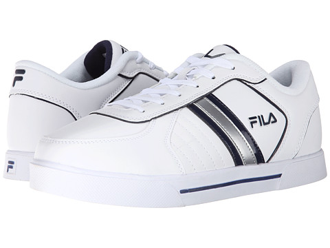 Fila - Estero 3 (White/White/Fila Navy) Men's Shoes