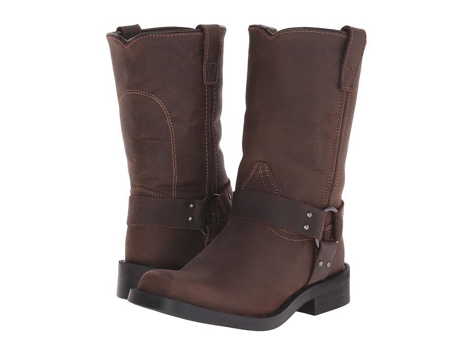 Durango Kids - Harness Adolescent (Big Kid) (Distressed Brown) Cowboy Boots