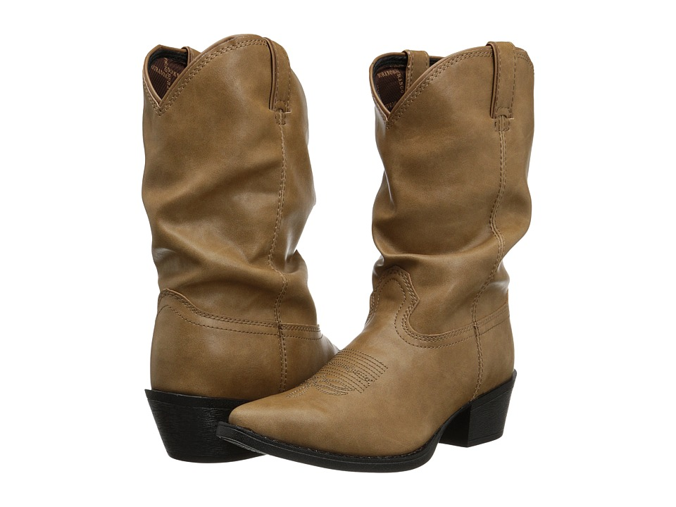 Durango Kids - 8 Slouch Adolescent (Big Kid) (Sand) Cowboy Boots