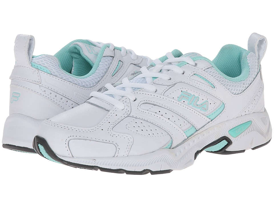 Fila - Capture (White/Aruba Blue/Metallic Silver) Women's Shoes