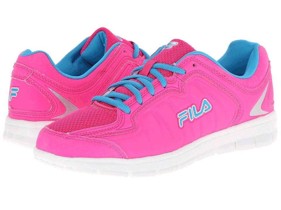 Fila - Escalight (Pink Glow/White/Atomic Blue) Women's Shoes