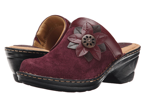 Softspots - Lara (Bordeaux Red) Women's Clog Shoes