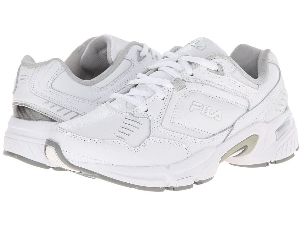 Fila - Memory Comfort Trainer (White/White/Metallic Silver) Women's Shoes