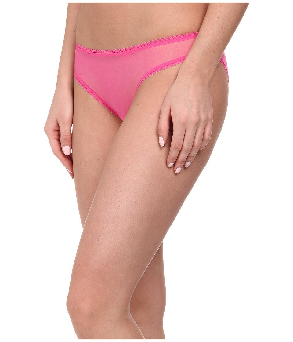 OnGossamer - Solid Gossamer Mesh Hip Bikini 3202 (Pink Lace) Women
