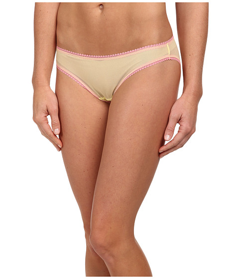 OnGossamer - Solid Gossamer Mesh Hip Bikini 3202 (Lemon) Women