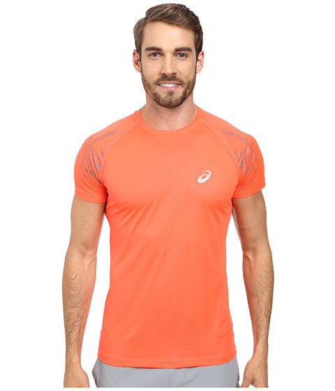 ASICS - Speed Short Sleeve Top (Fiery Flame) Men's Workout