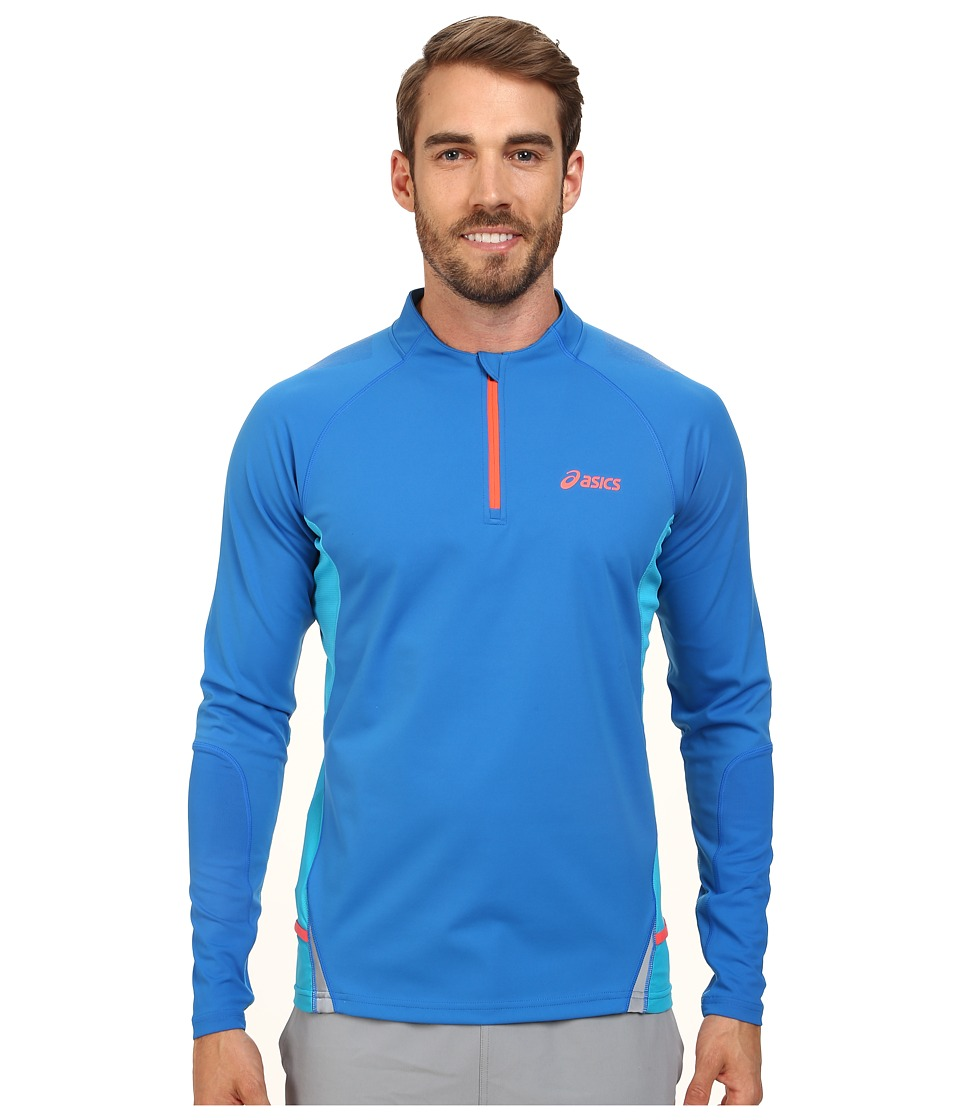ASICS - Fuji Long Sleeve 1/2 Zip (Speed Blue/Atomic Blue) Men's Workout