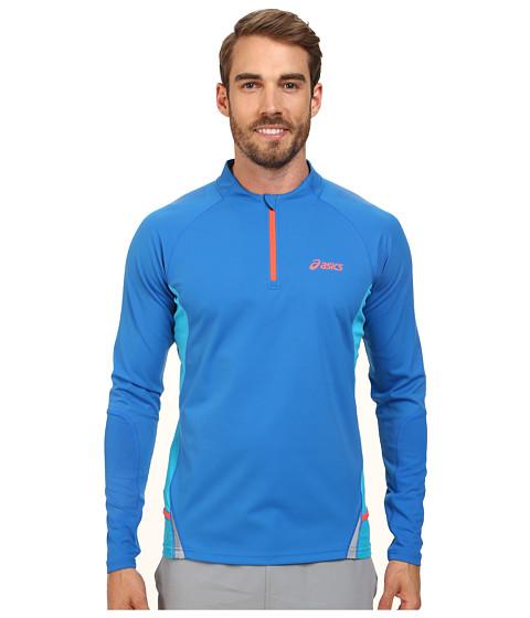 ASICS - Fuji Long Sleeve 1/2 Zip (Speed Blue/Atomic Blue) Men
