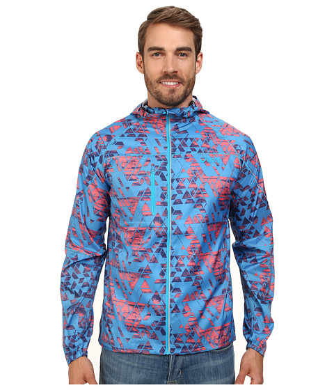 ASICS - Fuji Packable Jacket (Maze Atomic Blue) Men's Workout