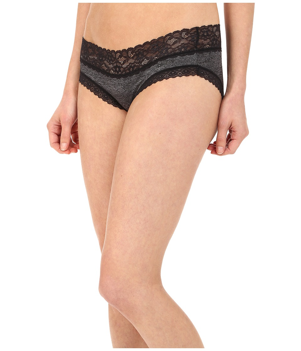 DKNY Intimates - Signature Lace Bikini DK1268 (Black Heather) Women's Underwear